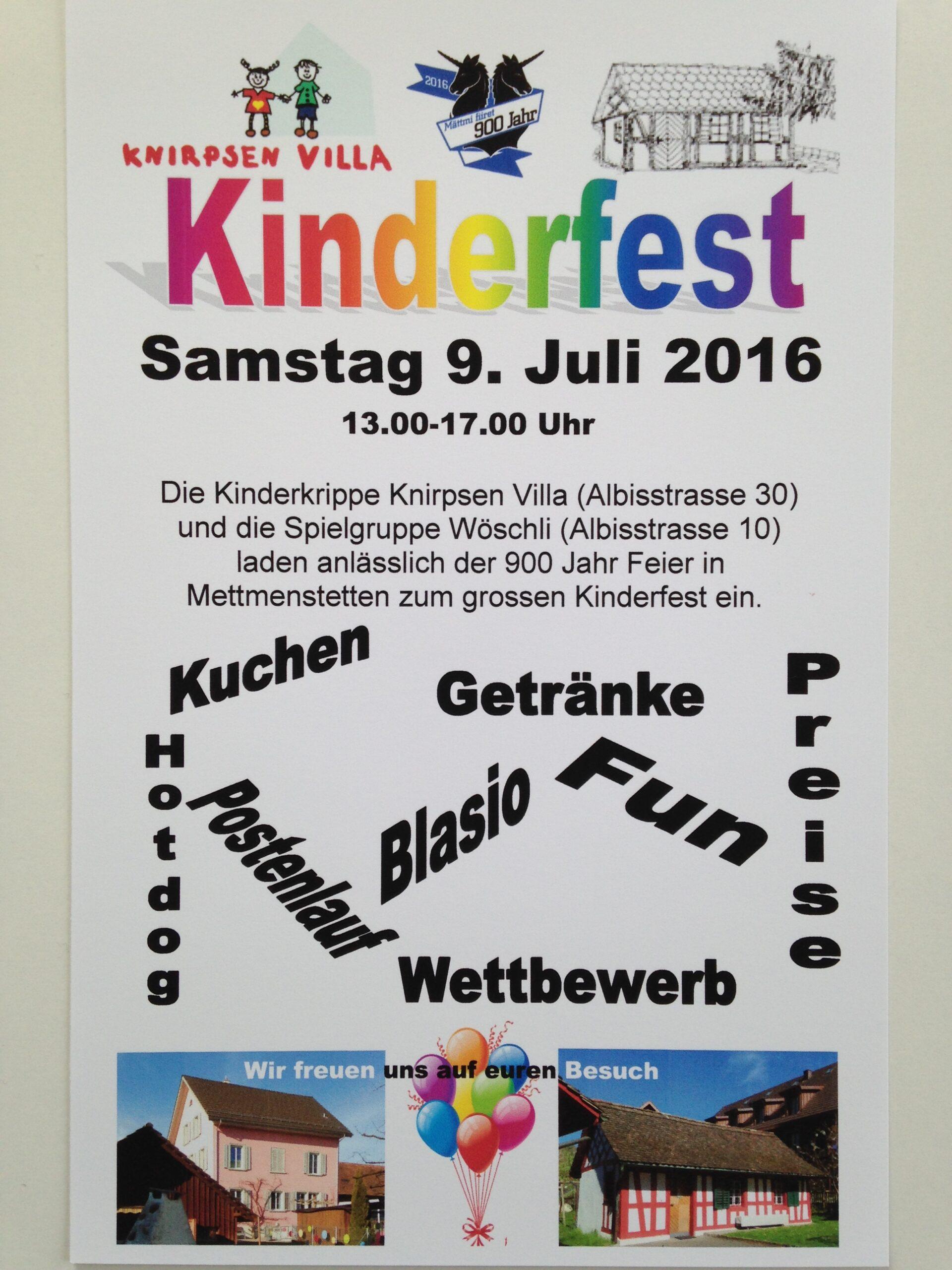 Kinderfest 9. Juli 2016